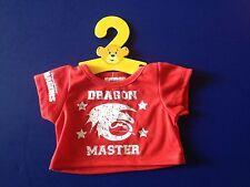 Build a Bear Clothing - New - Dreamworks Dragons - Red Dragon Master T-Shirt
