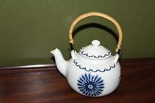 ALUMINITE Frugier Blue Flower Individual Tea Pot*Vintage Limoges France