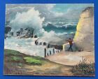 Original 1962 F.H. Cutting Signed Oil Painting Unframed. NICE!!