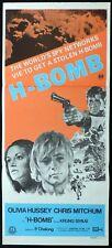 THE H BOMB 1971 Chris Mitchum Olivia Hussey RARE Daybill Movie Poster
