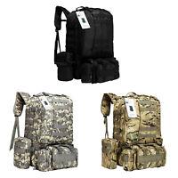 50L 4P Outdoor Military Trekking Rucksacks Tactical Backpack Camping Hiking