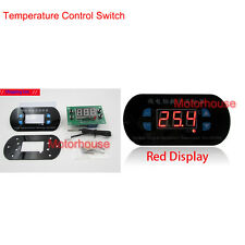 Red Panel Embeded DC 12v Thermostat Detect Temperature Meter Controller Switch