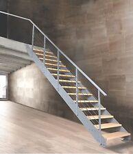 Metallwangentreppe PROSTO aus Metall: grau - Erlestufen - 15 Steigungen