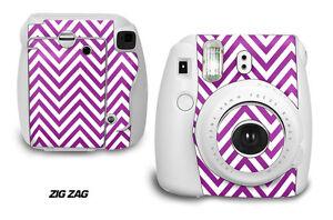 Custom Skin Sticker Wrap Decal For Fujifilm Instax Mini 8 Instant Camera ZIGZAG