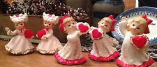 Vintage Lefton Valentines Day Girl Figurines