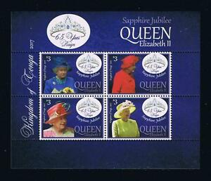 Tonga - 2017 Queen Elizabeth Sapphire Jubilee Postage Stamp Souvenir Sheet