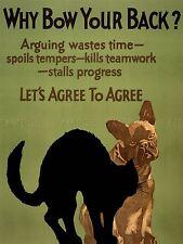 PROPAGANDA POLITICAL WORK CAT DOG TEAM USA ART POSTER PRINT PICTURE LV7057