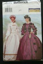 Butterick 6694 Women's Victorian Civil War Costume Dress Pattern 6 8 10 UNCUT