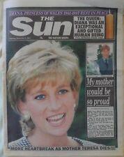 PRINCESS DIANA DEATH THE SUN NEWSPAPER 6TH SEPTEMBER 1997