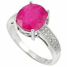 Ruby Oval Stone Costume Rings