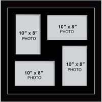 "Large multi picture photo aperture frame fits 4 photos of size 10"" x 8""  inches"