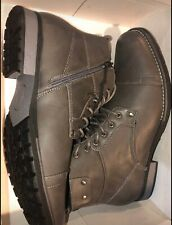 Invito Mens Casual Rowe Grey Ankle Boots Size 10 Medium Gray Color