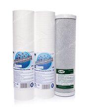 Set di 1 micron e 5 Micron Filtro e blocco di carbonio • OSMOSI INVERSA • Sostituzione
