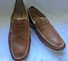 Aldo Men's Leather Loafers Slip-on Moccasins EU Size 43 US 10 SHIPS FREE