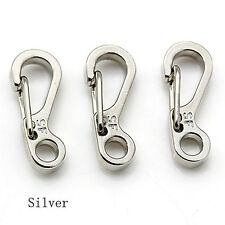 5x Mini Spring Cord Buckle Clasp Buckle Snap Hook Carabiner Mountainer Keyring3c Gray