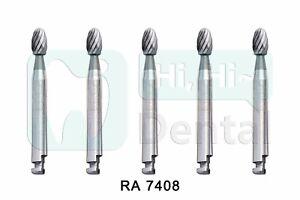 Dental Tungsten Carbide Burs Trimming & Finishing Egg Football RA 7408 5Pcs