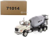 INTERNATIONAL HX615 CONCRETE MIXER WHITE 1/50 MODEL BY DIECAST MASTERS 71014
