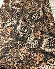 Black And Brown Leopard Print  Fabric  S B T Y
