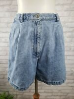 Vintage Ralph Lauren Women's Size 8 Pleated Front Denim Jean Shorts