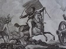 Gravure EMPIRE COLONEL GERARD POLOTSK Vitebsk BELARUS RUSSIA 1812 NAPOLEON 1815