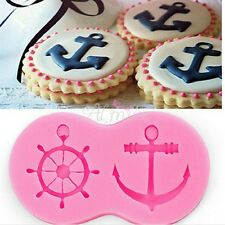 Anchor & Rudder Silicone Mold For Fondant Marzipan Sugarcraft Baking Tools #m