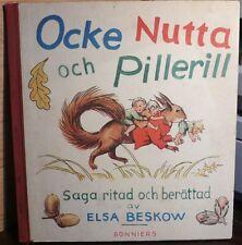 Ocke Nutta och Pillerill, Elsa Beskow, Bonniers 1944…World FREE Shipping*