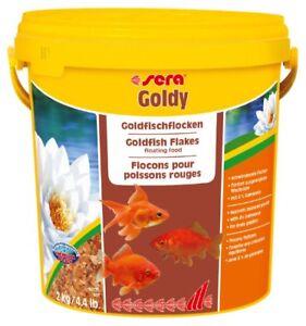 Sera Goldy 10 L 2 Kg Mangime in Scaglie per Pesci Rossi Acquario