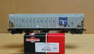 INTERMOUNTAIN 45320-13 HO Pillsbury 3-Bay Rib-Sided Covered Hopper #14278