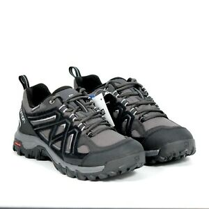 Salomon Evasion 2 CS WP Black Grey Waterproof Hiking Shoe Mens Size 10 New