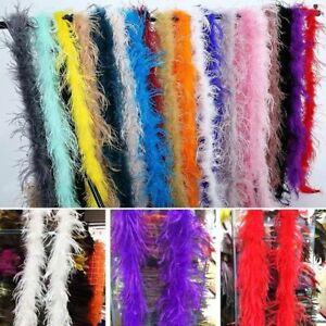 """Dark Blush Pink Ostrich Boa  Fluffy Feather Trim 1 ply 6 feet  2 Yards 72"""""""