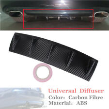 584mm Carbon Fibre ABS Shark Fin 5 Wing Lip Diffuser Rear Bumper Chassis+Tape