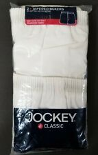Jockey Classic Tapered Boxer Shorts Mens Size Medium (2 Pack), White Easy Care