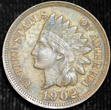 1902 Indian Head Cent, Almost Uncirculated Penny, Free Ship with Tracking, C3950