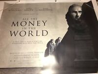 All the Money in the World ORIGINAL UK QUAD POSTER 2017 (Ridley Scott)very Rare