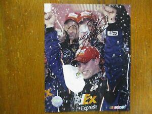 DENNY  HAMLIN(34 NASCAR Wins/3 Daytona 500 Wins)Signed 8 X 10 Glossy Color Photo