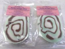 Mint,vanilla Chocolate Swiss Slice. Soft Nougat X 2