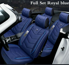 Royal blue 6D Luxury PU Leather Car Seat Covers forBenz W203 W210 W211 AMG W204