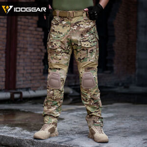 IDOGEAR G3 Combat Pants with Knee Pads Gen3 Tactical Airsoft Trousers MultiCam