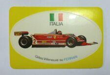 VECCHIO ADESIVO AUTO F1 / Old Sticker GILLES VILLENEUVE FERRARI DUFOUR (cm 9x6)