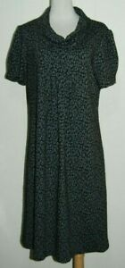 NWT New Directions Woman Animal Print Scoop Neck SS Sweater Dress Plus 14W