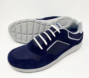 Crocs Kinsale Pacer Sneaker Shoes Men's Size 12 Navy Blue/Pearl White NEW
