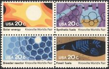 USA 1982 World Fair/Energy/Nuclear/Solar Power/Chemicals/Coal 4v set blk n44749