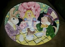 Fitz & Floyd Alice in Wonderland Canape Plate 1992 Lovely and Colorful EUC