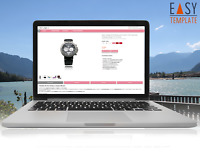 eBay Vorlage 2021 SEO optimiert RESPONSIVE Auktion Template Design FFT Rosa
