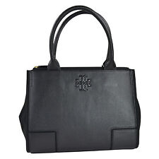 NWT Tory Burch Ella Leather CanvasSmall Tote in Black