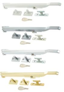 Window Locking Casement Stay & Locking Handle Fastener For Wood Timber Windows