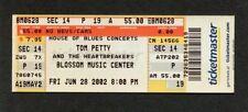 2002 Tom Petty Brian Setzer Unused Concert Ticket Cuyahoga Falls The Last DJ