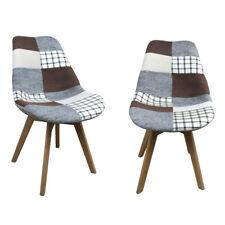 2x Esszimmerstuhl Design Stuhl Holzstuhl Küchenstuhl Stockholm Patchwork 2. Wahl