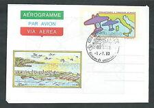 1983 ITALIA AEROGRAMMA TRASVOLATA ATLANTICA FDC - 5