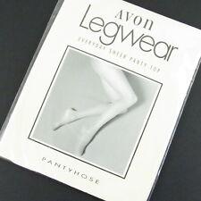 Avon Legwear Pantyhose Size A Ivory Sheer Panty Top Reinforced Toe Cotton Panel